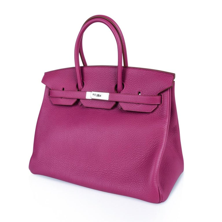 Hermes Tosca HSS Clemence Palladium Birkin 35 Bag  For Sale 3