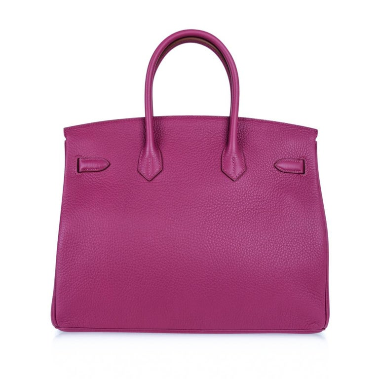 Hermes Tosca HSS Clemence Palladium Birkin 35 Bag  For Sale 8