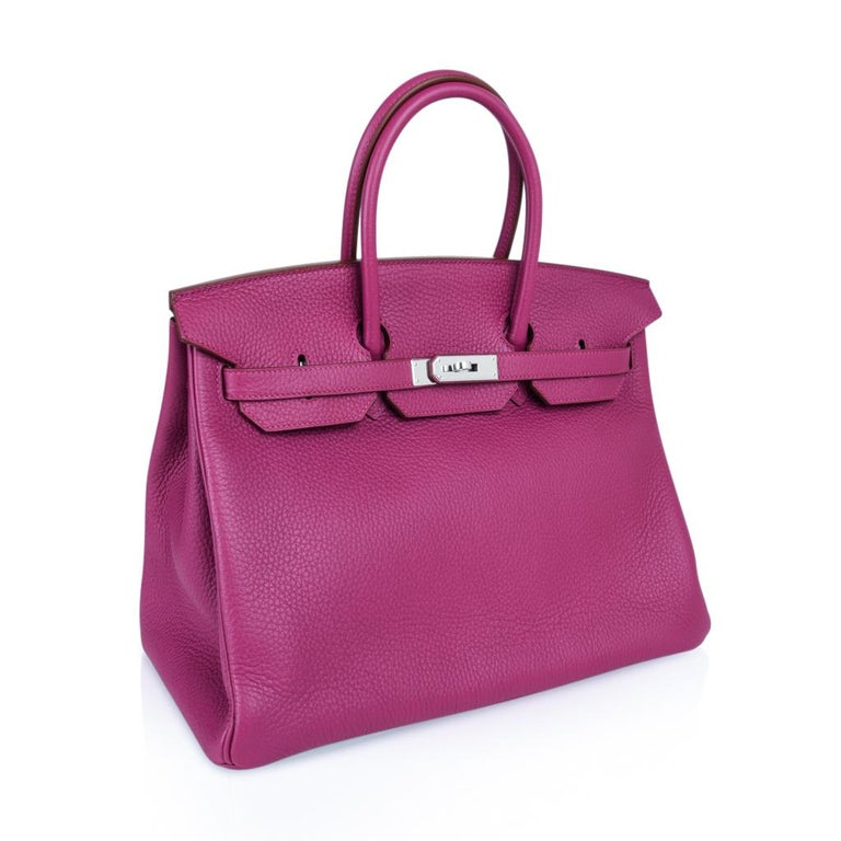 Hermes Tosca HSS Clemence Palladium Birkin 35 Bag  For Sale 1