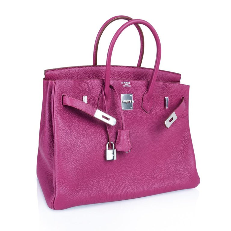 Hermes Tosca HSS Clemence Palladium Birkin 35 Bag  For Sale 6