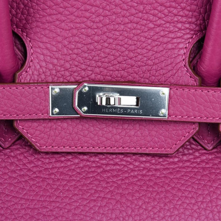 Hermes Tosca HSS Clemence Palladium Birkin 35 Bag  In New Condition For Sale In Miami, FL