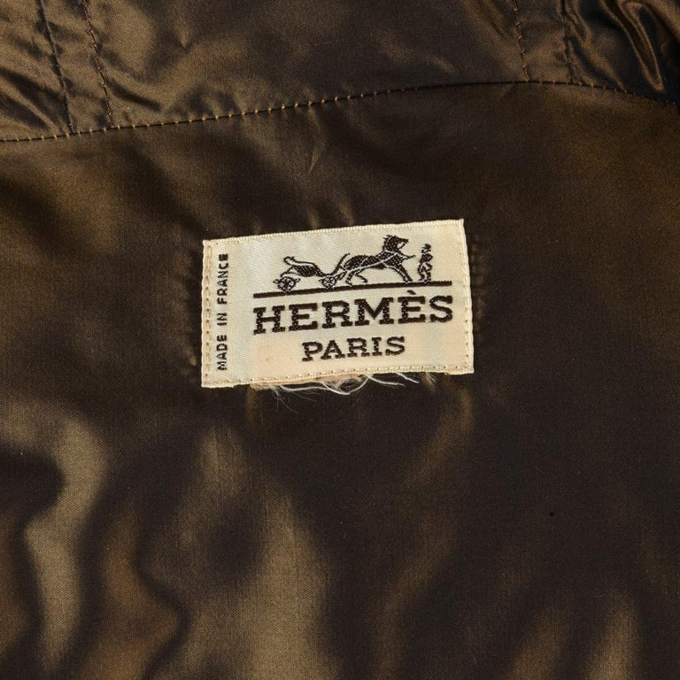 Hermes Jacket Vintage Iridescent Quilted Parka Lush Fox Hoodie Trim 6 For Sale 7