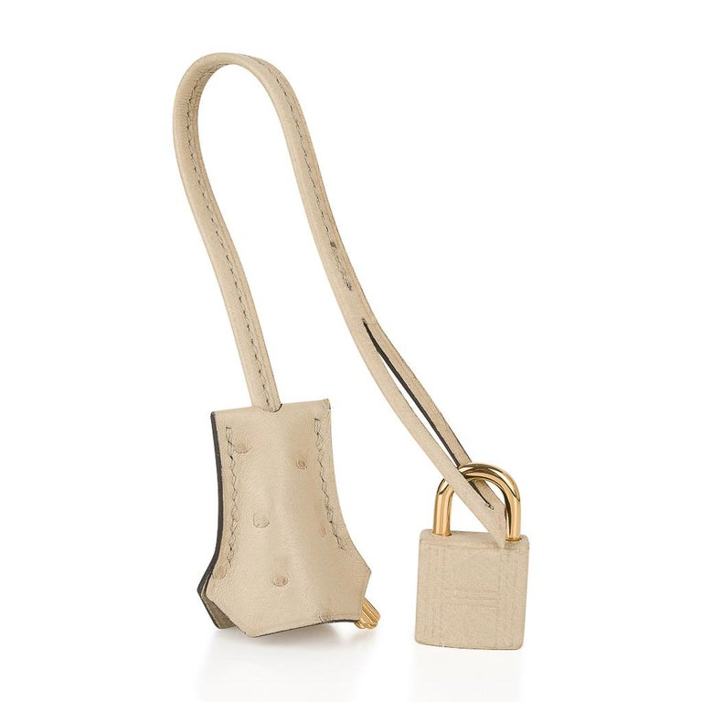 Hermes Birkin 30 Bag Parchemin Gold Hardware Perfect Year Round Neutral In New Condition For Sale In Miami, FL
