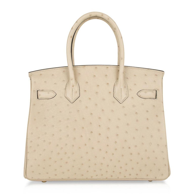 Hermes Birkin 30 Bag Parchemin Gold Hardware Perfect Year Round Neutral For Sale 5