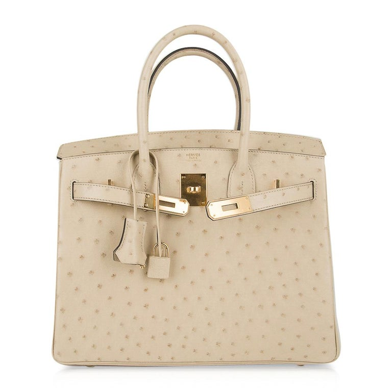 Hermes Birkin 30 Bag Parchemin Gold Hardware Perfect Year Round Neutral For Sale 4