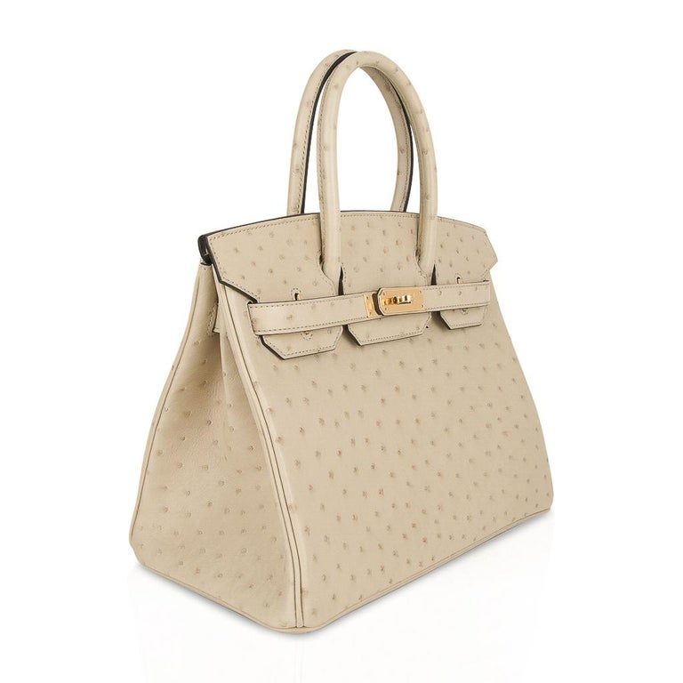 Hermes Birkin 30 Bag Parchemin Gold Hardware Perfect Year Round Neutral For Sale 2