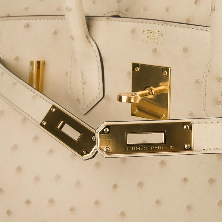 Hermes Birkin 30 Bag Parchemin Gold Hardware Perfect Year Round Neutral For Sale 1