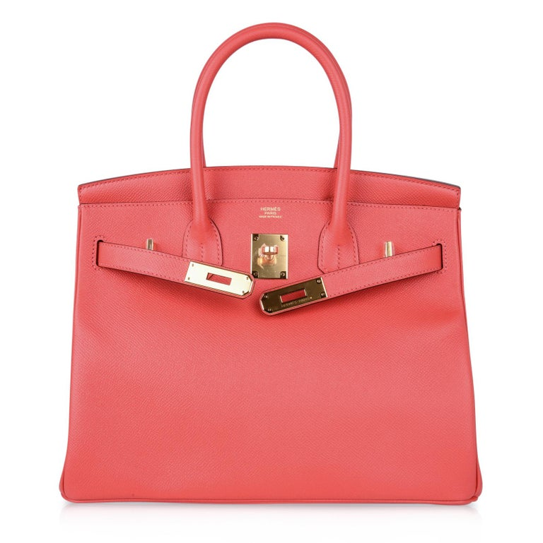 Hermes Birkin 30 Bag Exquisite Rose Jaipur Pink Epsom Gold Hardware For Sale 1
