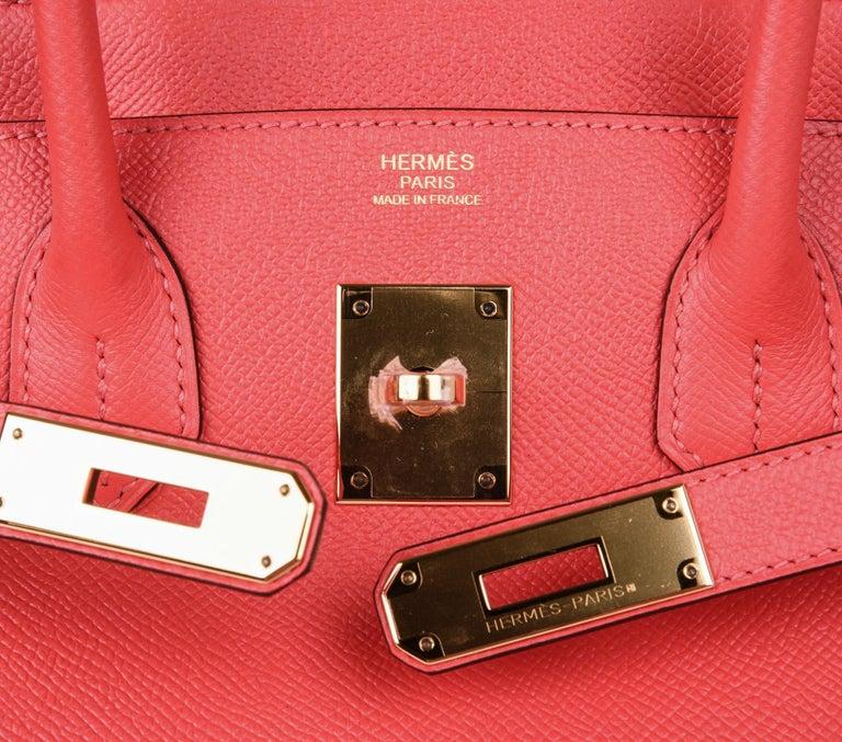 Women's Hermes Birkin 30 Bag Exquisite Rose Jaipur Pink Epsom Gold Hardware For Sale