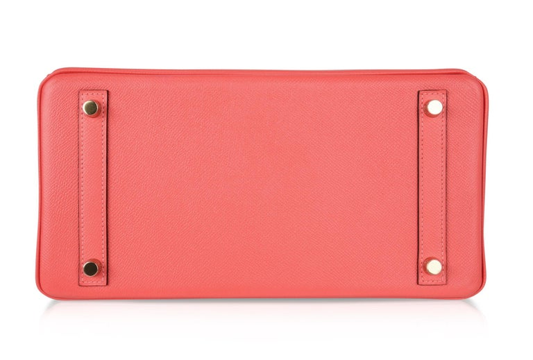 Hermes Birkin 30 Bag Exquisite Rose Jaipur Pink Epsom Gold Hardware For Sale 4