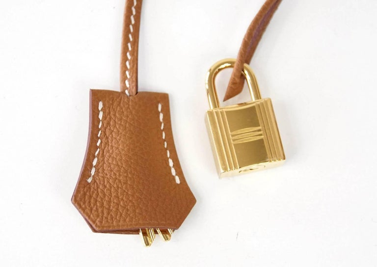 Brown Hermes Birkin 35 Bag Coveted Gold Togo Gold Hardware Iconic Classic For Sale
