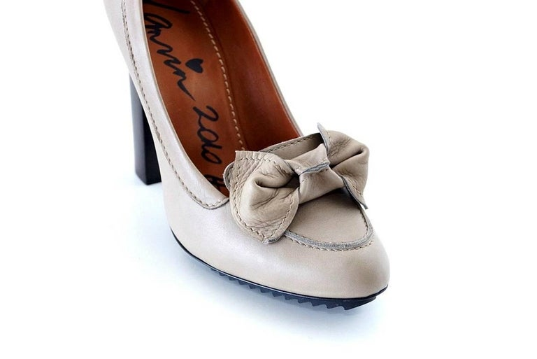 Lanvin Shoe 2010 Pump Bow Loafer Style 39 / 9 New 4