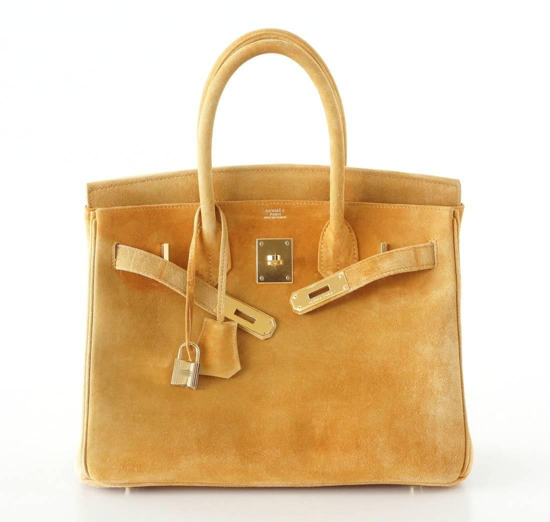 HERMES BIRKIN 30 bag rare Camel Doblis gold hardware at 1stdibs