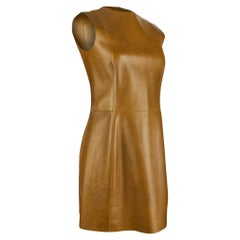 Celine Dress Lamb Leather Sleek and Chic 38 / 4 nwt