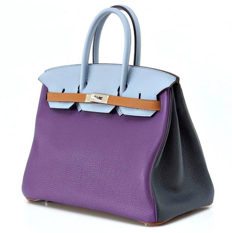 Hermes Birkin 35 Arlequin Harlequin Limited Edition Clemence Bag  In New Never_worn Condition For Sale In Miami, FL