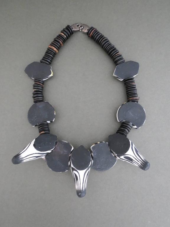 Danish Monies Gerda Lynggaard Zebra Choker Necklace Unique Signed 6