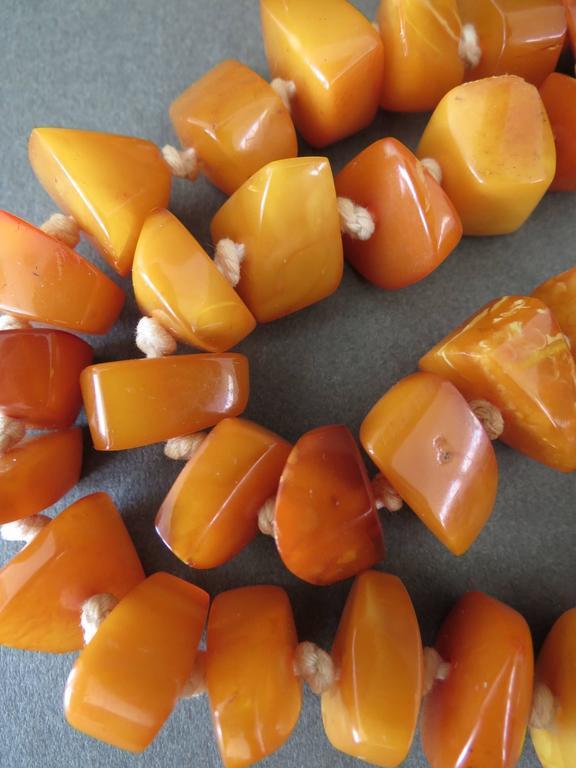 Vintage Natural Baltic Butterscotch Egg Yolk Amber Necklace 8