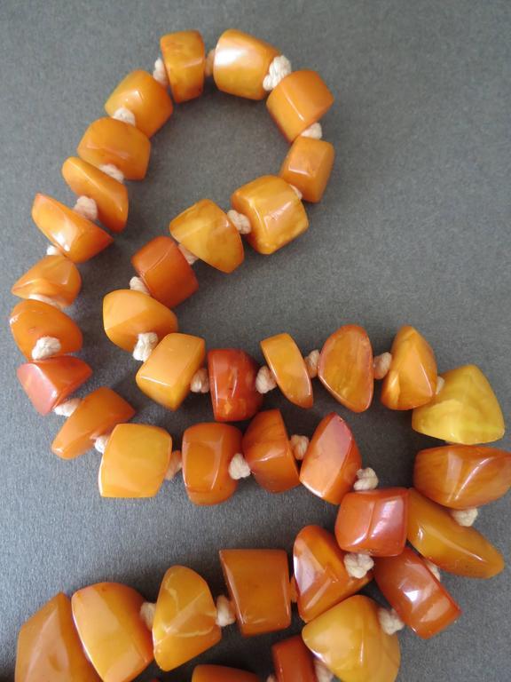 Vintage Natural Baltic Butterscotch Egg Yolk Amber Necklace 5