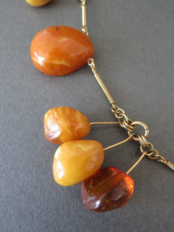Vintage Natural Baltic Butterscotch Egg Yolk Amber Beads Necklace 6