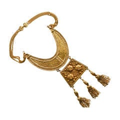 Etruscan Oversized Tassel Necklace