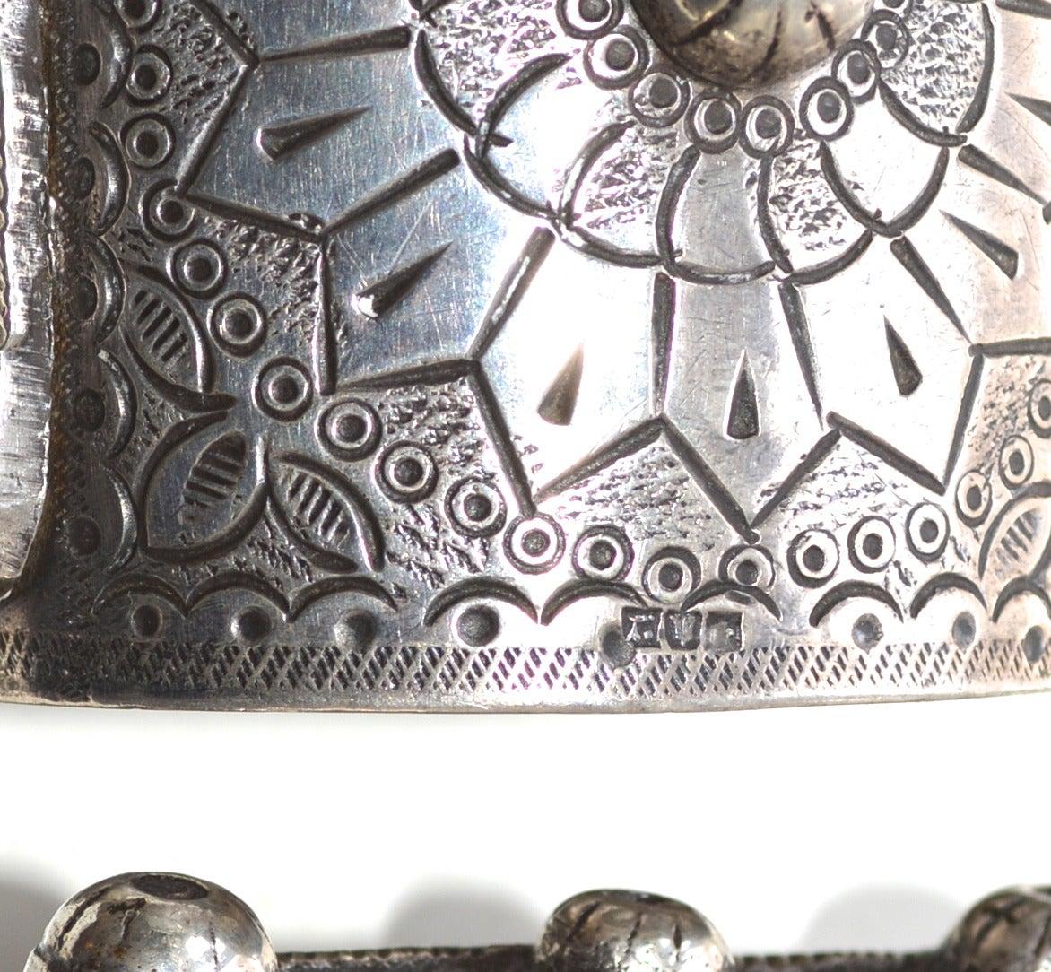 Egyptian 900 Silver Cuffs / Bedouin Armor Bracelets / Siwa Oasis For Sale 3