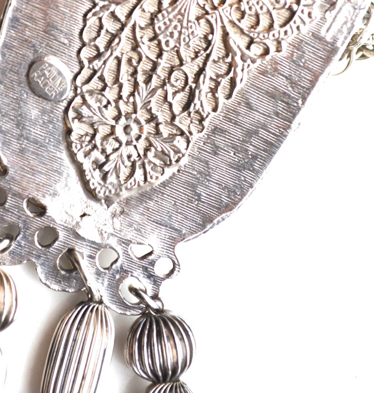 Black Pauline Rader Victorian Revival Belt Necklace For Sale