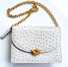 1960s Dofan Ostrich Convertible Bag / Clutch