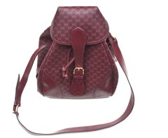 Gucci Burgundy Monogram Bag / Rare