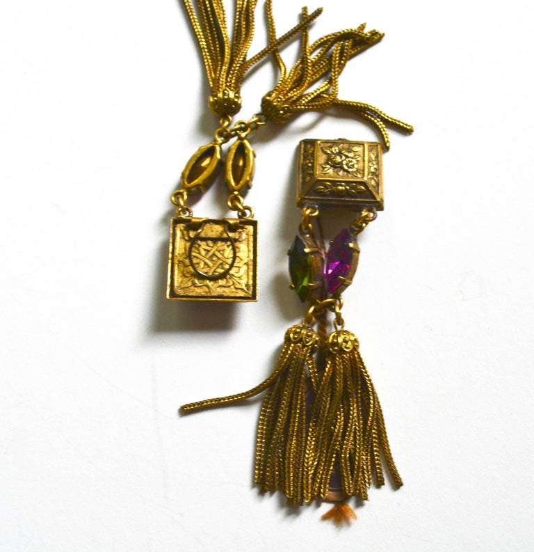 French 60s Tassel Earrings In Excellent Condition For Sale In Litchfield County, CT