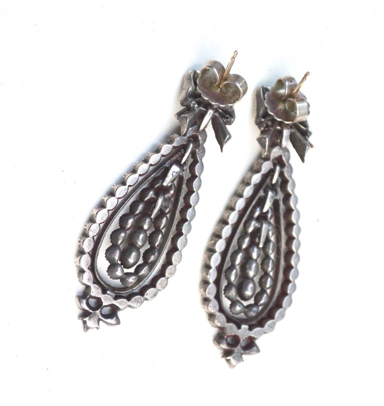 Georgian Gold and Silver Paste Earrings 2