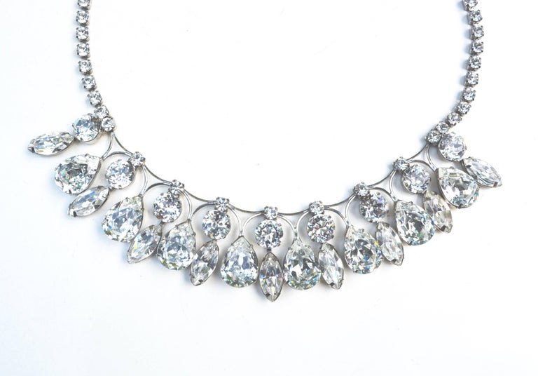 Weiss Glam Glass Drop Necklace  2