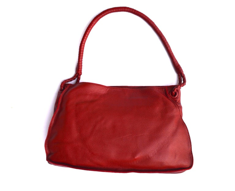Brown Cherry Red Bottega Veneta Bag For Sale