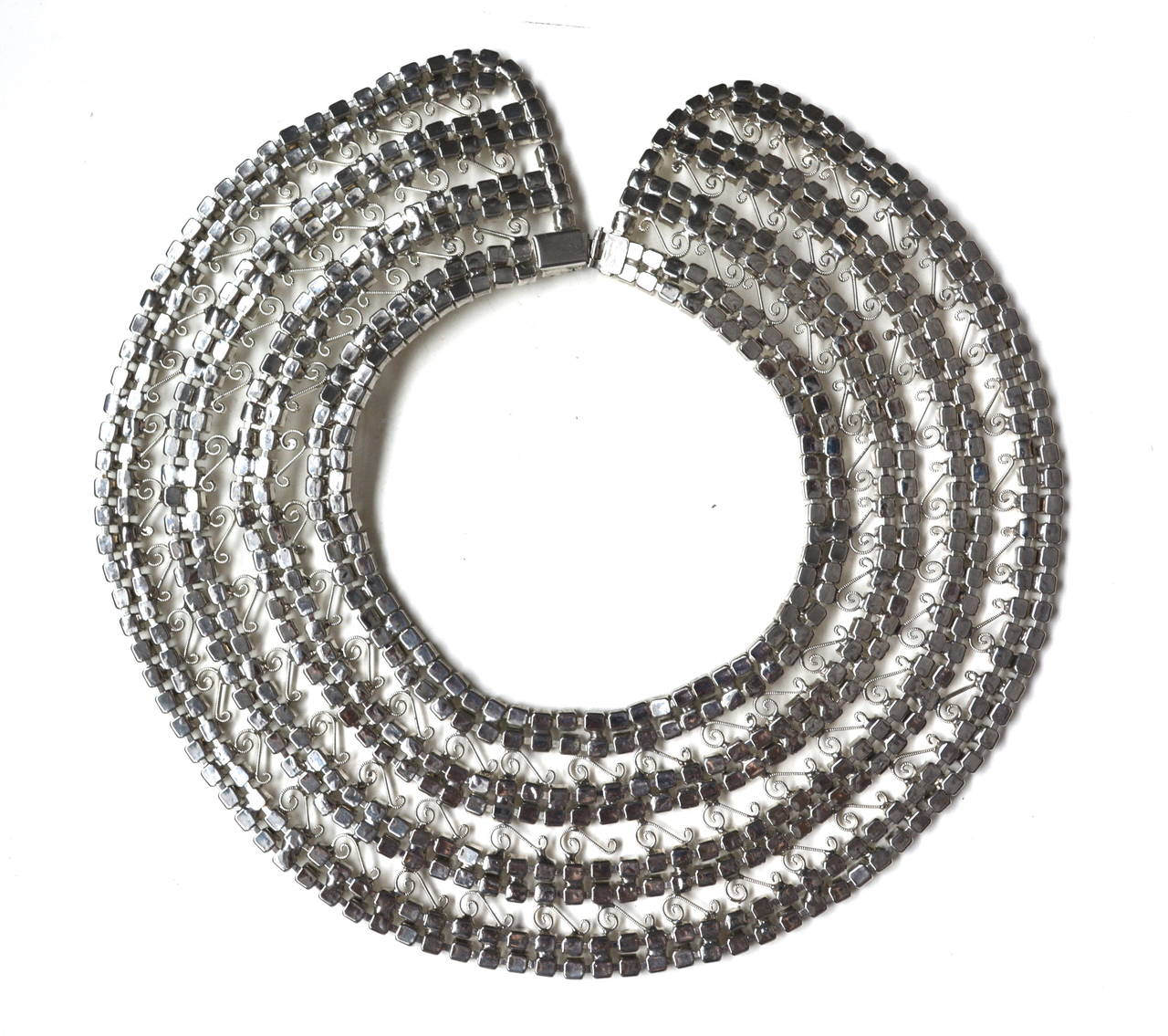 1950s Rhinestone Collar In Excellent Condition For Sale In Litchfield County, CT