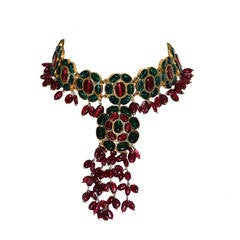 Mogul Glass Gilt Necklace