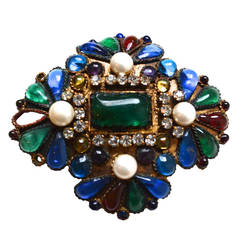 Early Maison Gripoix for Chanel Brooch