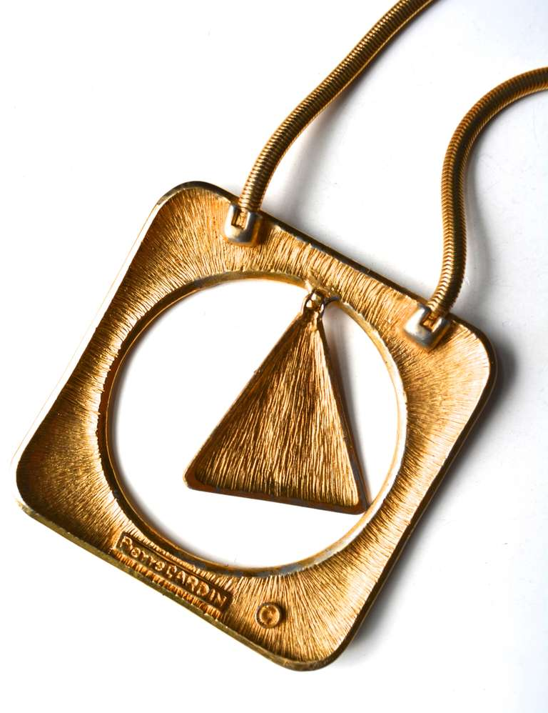 Pierre Cardin Mod Triangle Necklace For Sale 3