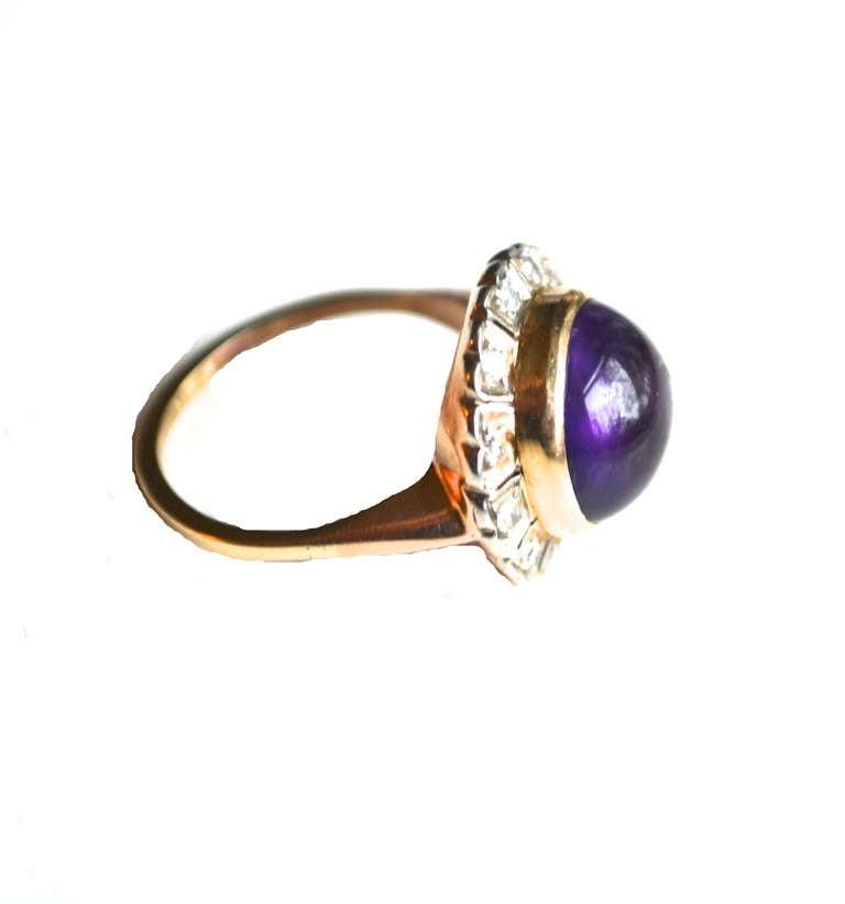 deco amethyst ring at 1stdibs