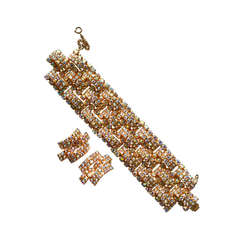 50s Aurora Borealis Cuff and Earrings