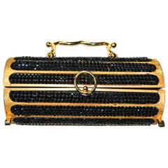 Judith Leiber Swarovski Handbag 1968 / Florentined Cylinder