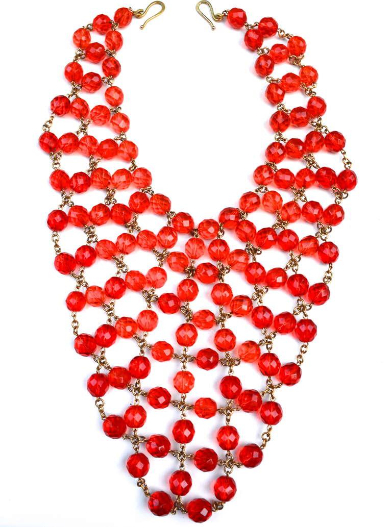 Glass Bib Necklace 4