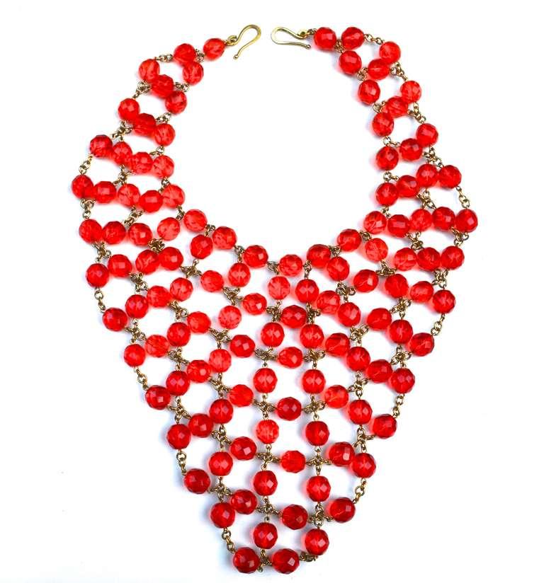 Glass Bib Necklace 3