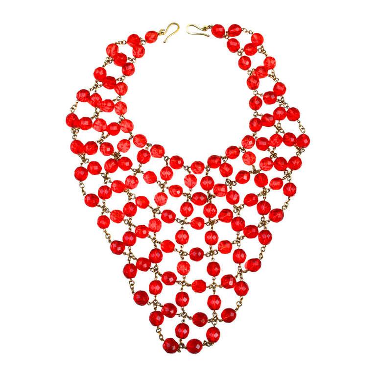 Glass Bib Necklace 1