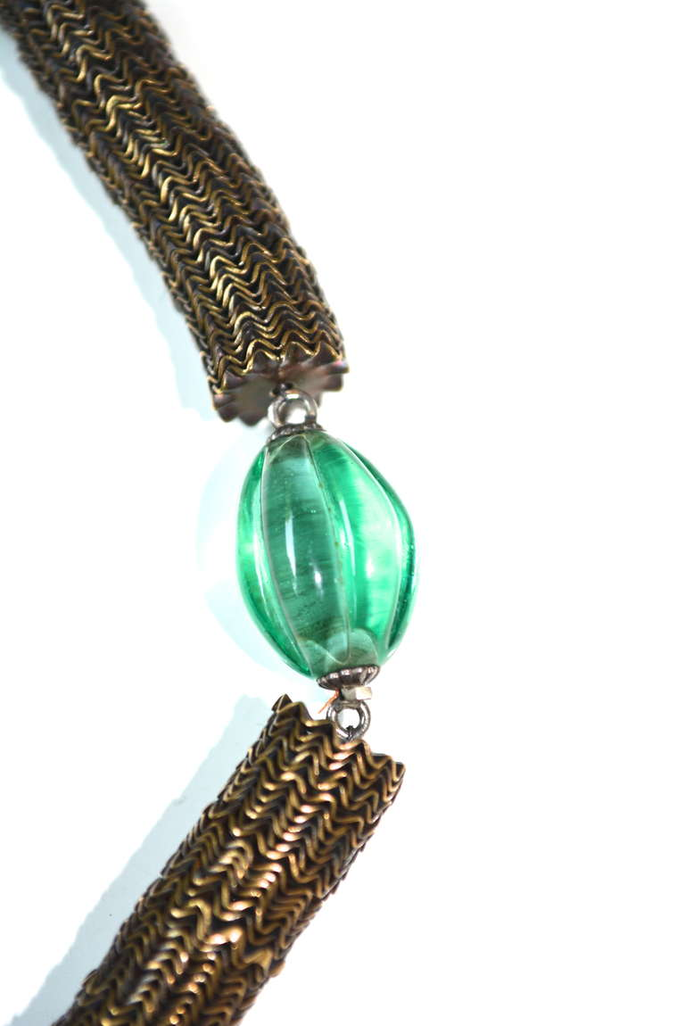 Women's Art Deco French Melon Necklace For Sale
