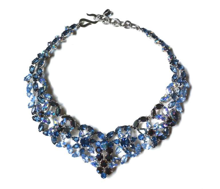 50s Christian Dior Necklace / 1958 Blue Ice Set 7