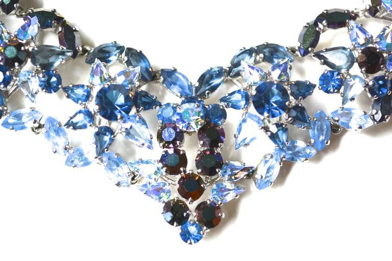 50s Christian Dior Necklace / 1958 Blue Ice Set 2