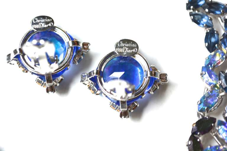 50s Christian Dior Necklace / 1958 Blue Ice Set 5
