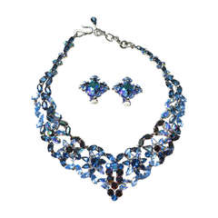 50s Christian Dior Necklace / 1958 Blue Ice Set