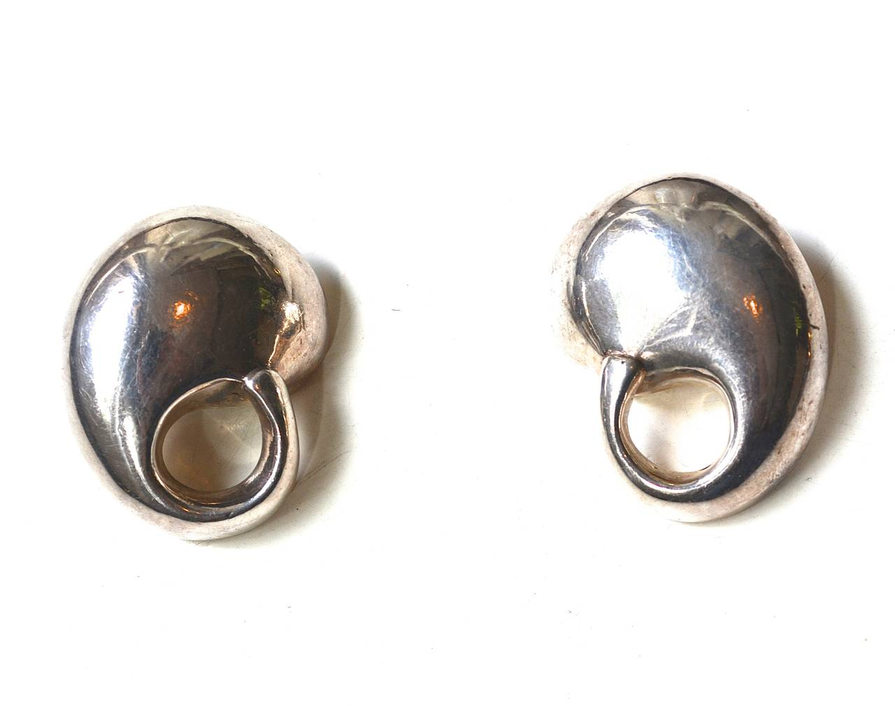 Organic Mod Sterling Earrings In Good Condition For Sale In Litchfield County, CT