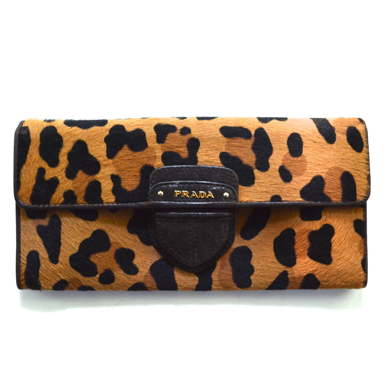 Prada Leopard Wallet In Excellent Condition For Litchfield County Ct