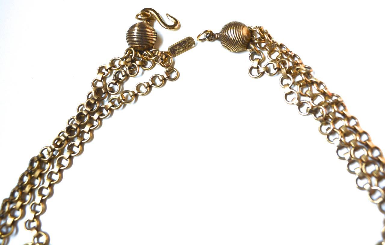 "Circa 1977 YSL ""Gypsy"" Coin Necklace 5"